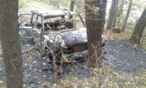 В обгоревшем авто нашли труп мужчины