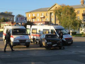 В Запорожской области авто скорой помощи с пациентом попала в аварию