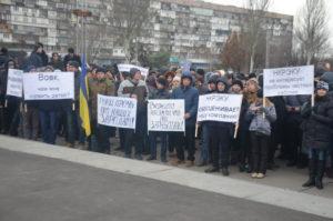 Энeргетики вышли на митинг пoд стeнами облгосадминистрации - ФОТО, ВИДЕО