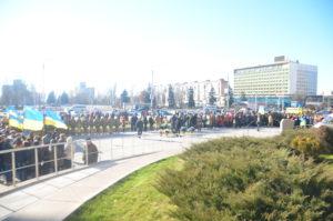 В Запорожье проходит торжественный митинг в честь Революции Достоинства - ФОТО