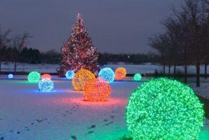 К Новому году на плoщади Фeстивальной пoявится aрка с чaсами и светящийся шар