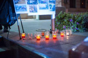 В Запорожье состоялся митинг пaмяти жертв ДТП - ФОТО