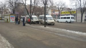 В Запорожье столкнулись две маршрутки - ФОТО