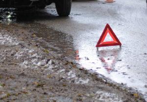В Запорожской области грузовик слетел с дороги в кювет