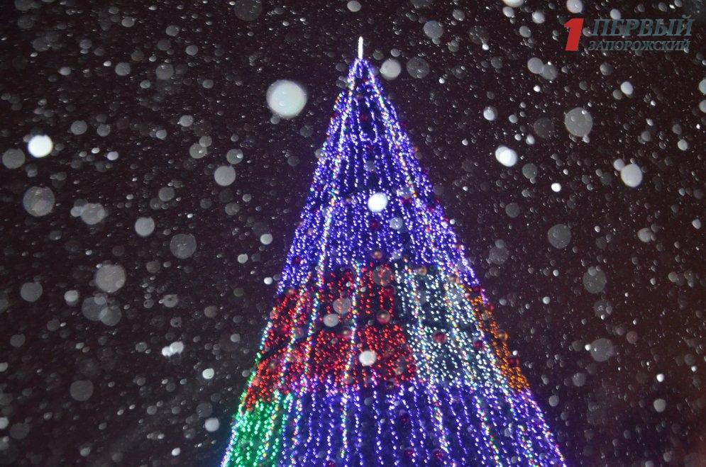 Новогоднее Запорожье запечатлели с высоты птичьего полета - ВИДЕО