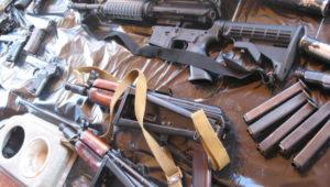 В Запорожской области у грабителей обнаружили целый склад с оружием