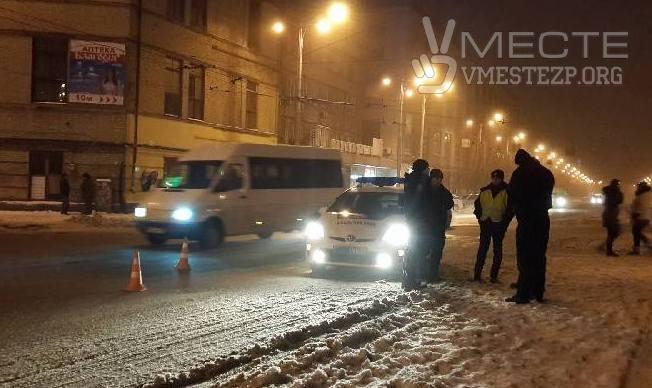 В Запорожье автомобиль патрульной полиции сбил женщину - ФОТО
