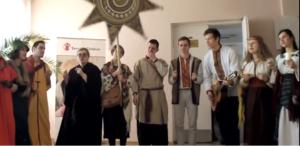 Студенты выступили с рождественским вертепом в  Запорожской областной библиотеке - ВИДЕО