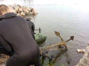 Запорожцам покажут старинный якорь, который нашли на дне Черного моря