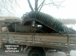 В запорожском селе мужчина украл трансформатор - ФОТО