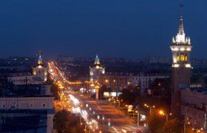Как выглядит ночное Запорожье с высоты птичьего полета - ВИДЕО