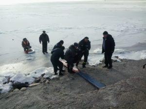 В Запорожской области мужчина провалился под лед - ФОТО