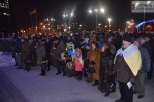 Активисты собрались на третью годовщину запорожского Майдана - ФОТО, ВИДЕО