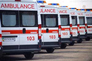 В Запорожской области машина скорой помощи попала в ДТП