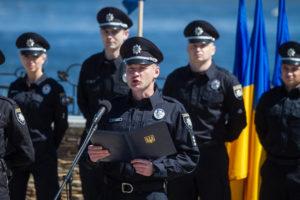 Запорожские патрульные приняли эстафету в поддержку защитников Украины - ВИДЕО