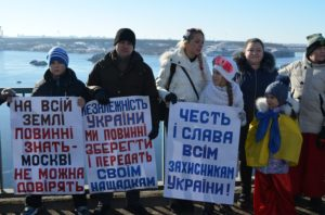В честь Дня соборности запорожцы собрались в «живую цепь» - ФОТО