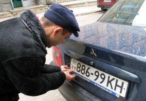 В Запорожской области задержали авто с поддельными номерами