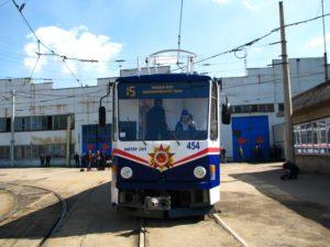 В Запорожье снова загорелся трамвай - ВИДЕО