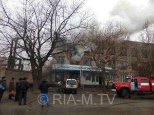 В Запорожской области горит моторный завод - ФОТО, ВИДЕО