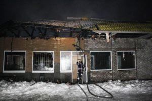 В Запорожской области произошел масштабный пожар в торговом комплексе - ФОТО