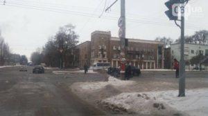 В центре Запорожья произошло ДТП - ФОТО