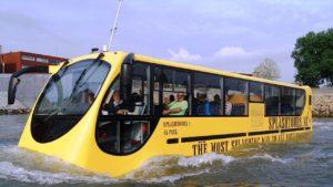 В Запорожье предлагают запустить автобусы-амфибии