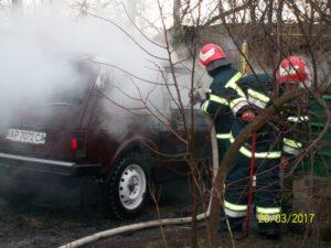 В Запорожской области сгорел автомобиль - ФОТО