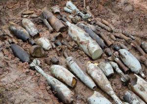 В Запорожской области обнаружили арсенал боеприпасов