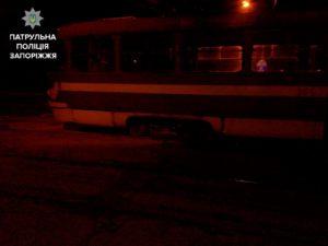 В Запорожье снова загорелся трамвай - ФОТО