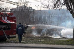В Запорожье произошел очередной пожар на острове Хортица - ФОТО