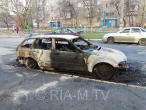 В Запорожской области ночью сгорел автомобиль BMW - ФОТО