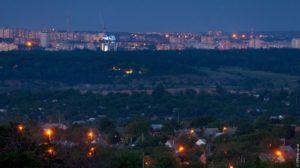 Удивительные снимки ночного Запорожья с высоты Большого Кургана - ФОТО