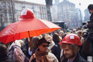 В столице феминистки вышли на марш - ФОТОРЕПОРТАЖ