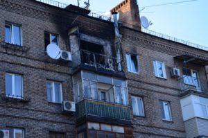 В центре Запорожья дотла сгорела квартира - ФОТО, ВИДЕО