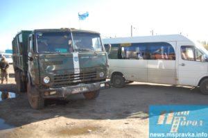 В Запорожской области военный грузовик протаранил маршрутку - ФОТО