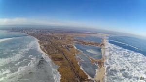 В сети появилось видео красот Бердянского залива с высоты птичьего полета - ВИДЕО
