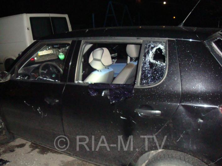 В Запорожской области разгромили битами два автомобиля - ФОТО