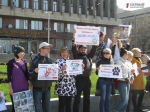 В Запорожье прошел митинг против жестокого обращения с животными - ФОТО, ВИДЕО
