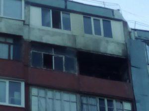 В запорожской многоэтажке произошел пожар - ФОТО