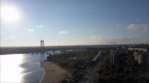 Запорожскую Набережную засняли с высоты птичьего полета – ВИДЕО
