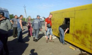Появилось видео с места жуткого ДТП в Запорожской области - ВИДЕО
