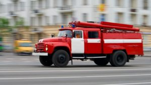 В центре Запорожья сгорел микроавтобус