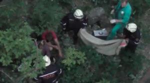 В Запорожье женщина упала с моста - ВИДЕО