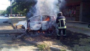 В Запорожье в ДТП заживо сгорел сотрудник Апелляционного суда - ВИДЕО