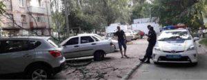 В Запорожье на припаркованную иномарку упало дерево - ФОТО