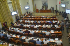 В Запорожье проходит восемнадцатая сессия городского совета - ФОТО