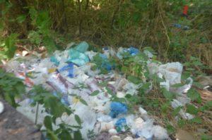 В центре Запорожья «процветает» несанкционированная стихийная свалка мусора - ФОТО