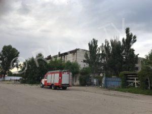 В Запорожской области горел завод - ФОТО, ВИДЕО