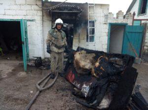 В Запорожской области на территории жилого дома произошел пожар - ФОТО