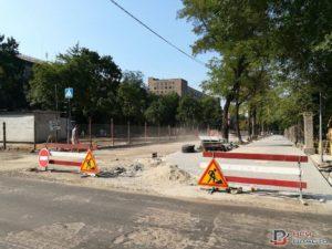 В Запорожье продолжается реконструкция проспекта Маяковского - ФОТО
